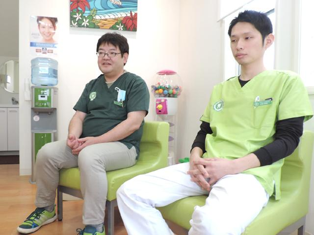 グリーンデンタルクリニック 久地 前田 剛司 院長 & 山田 将登 外来診療部部長