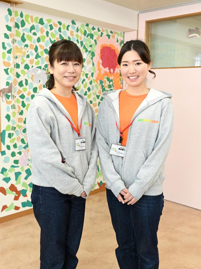 遠山 支援員 & 渡辺 看護師
